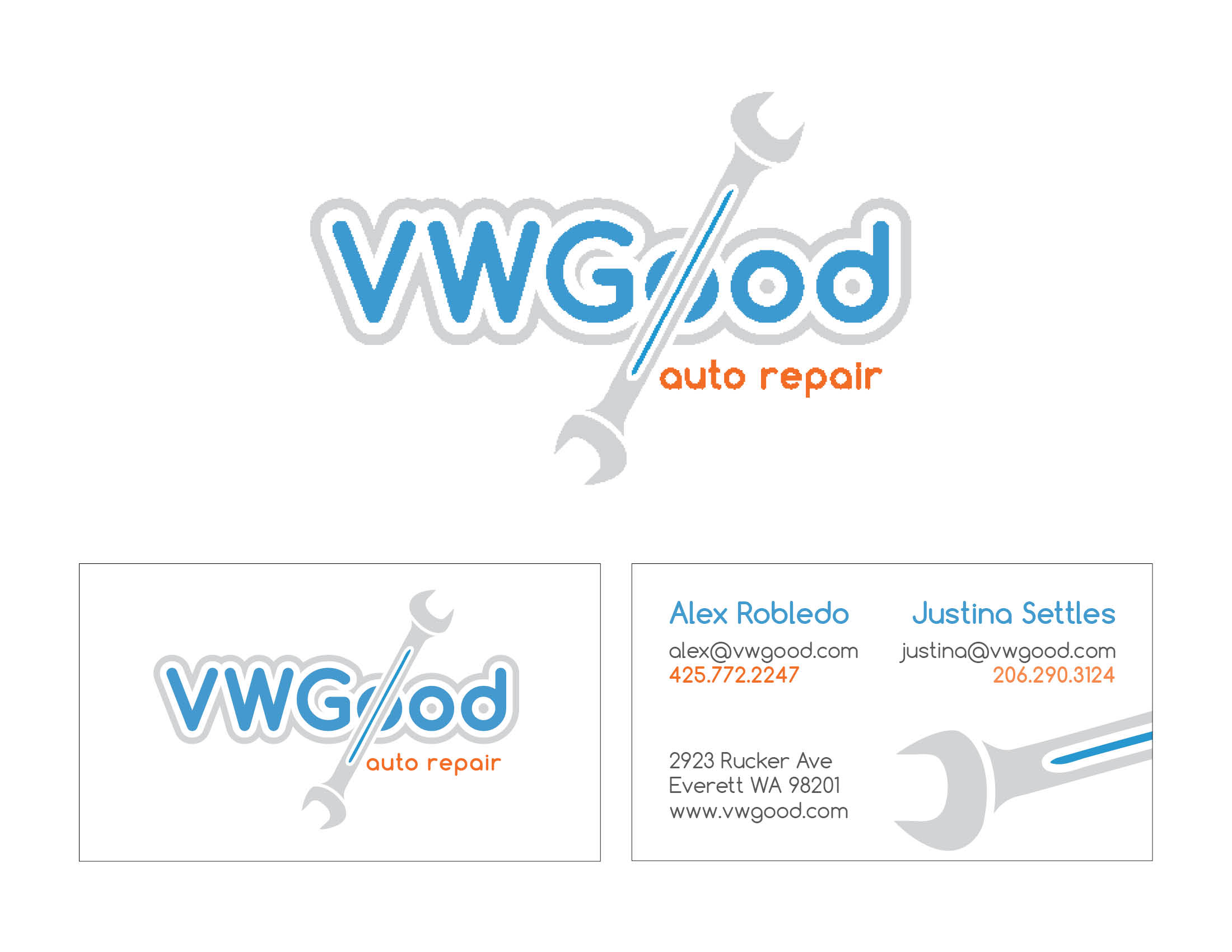 VW God logo & business card