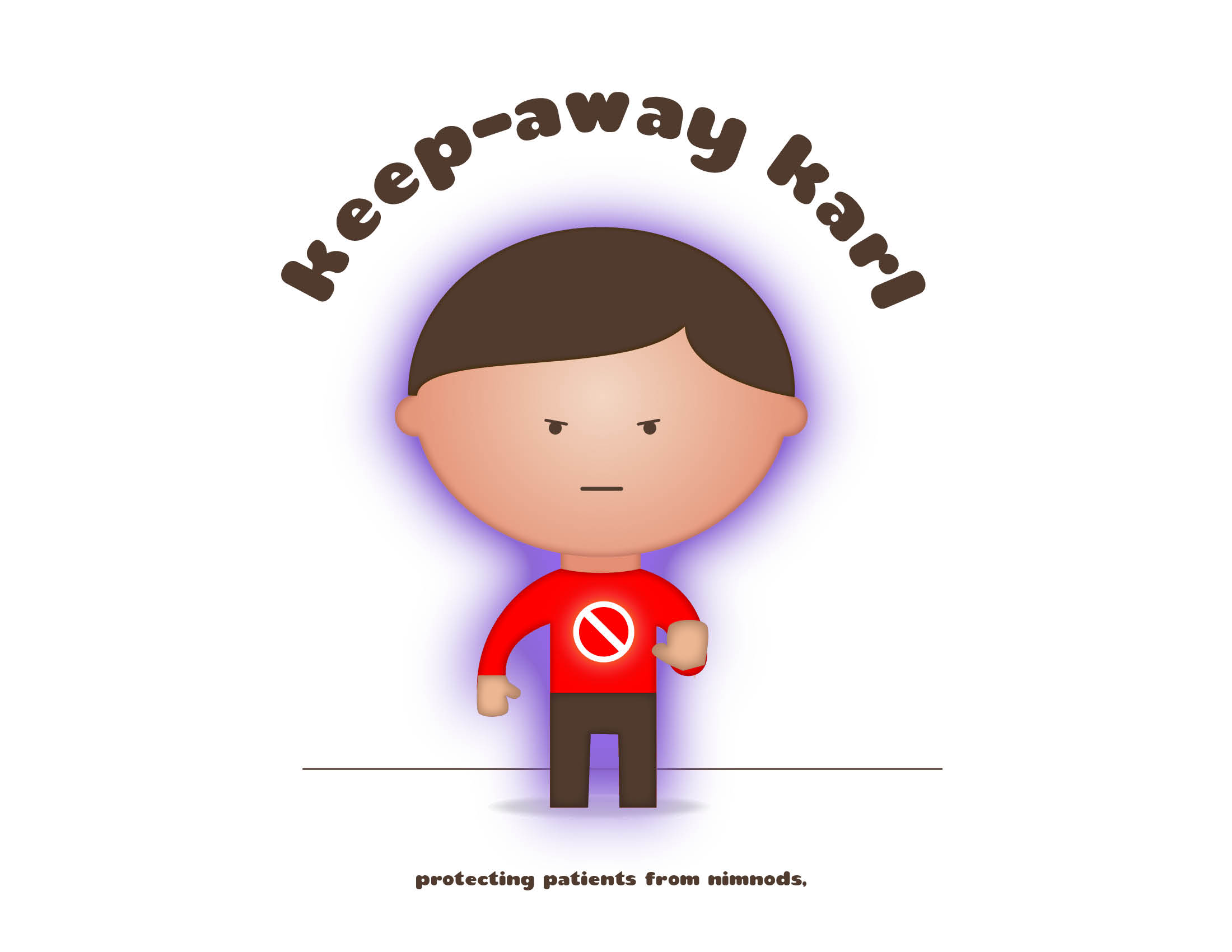 Keep Away Karl cancer illustration