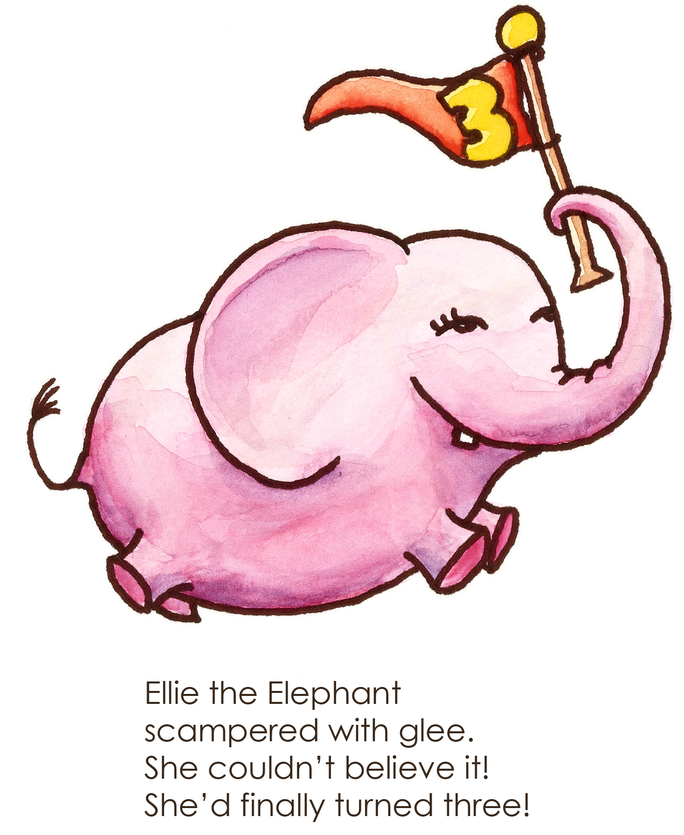 Alphabet E for Elephant