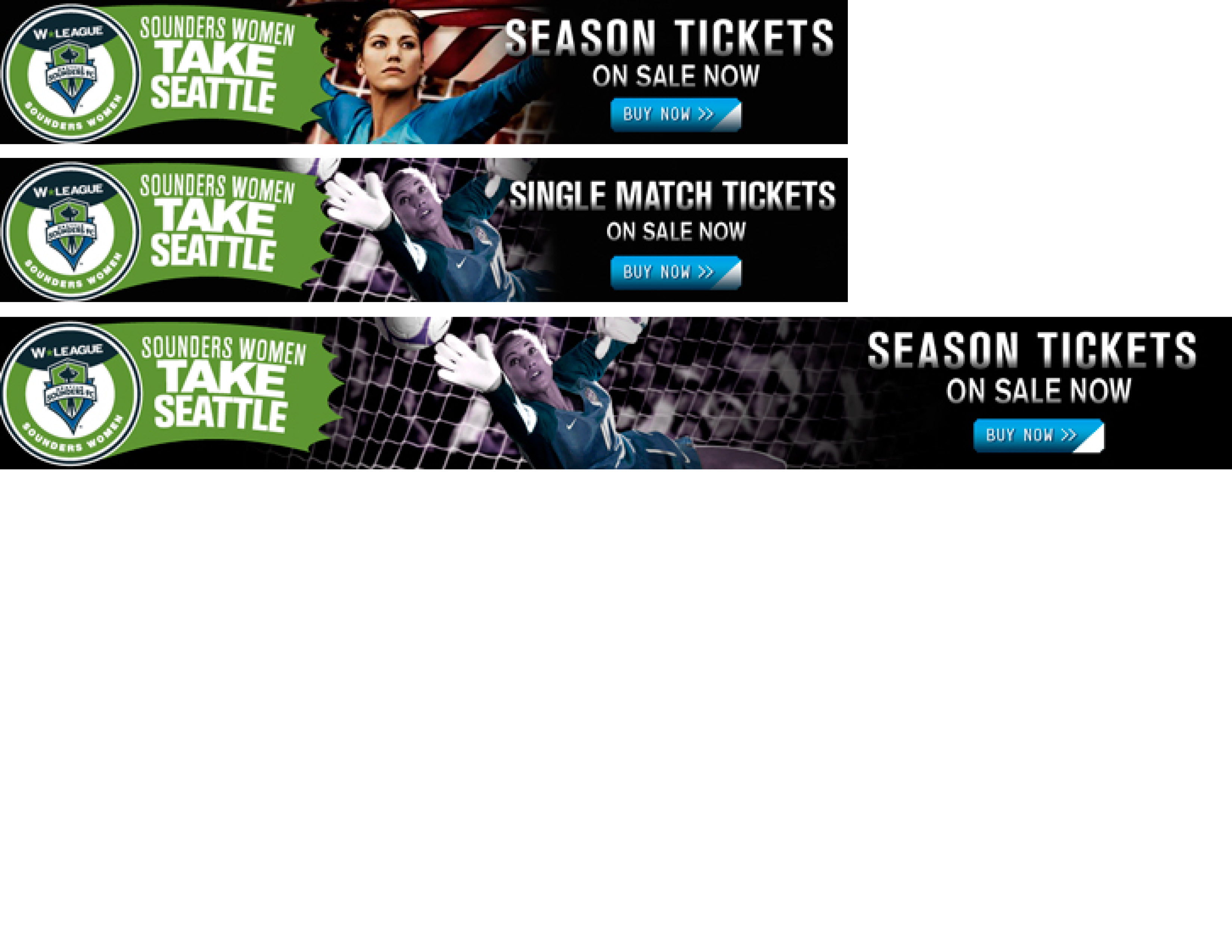 Sounders Women Banner Ads