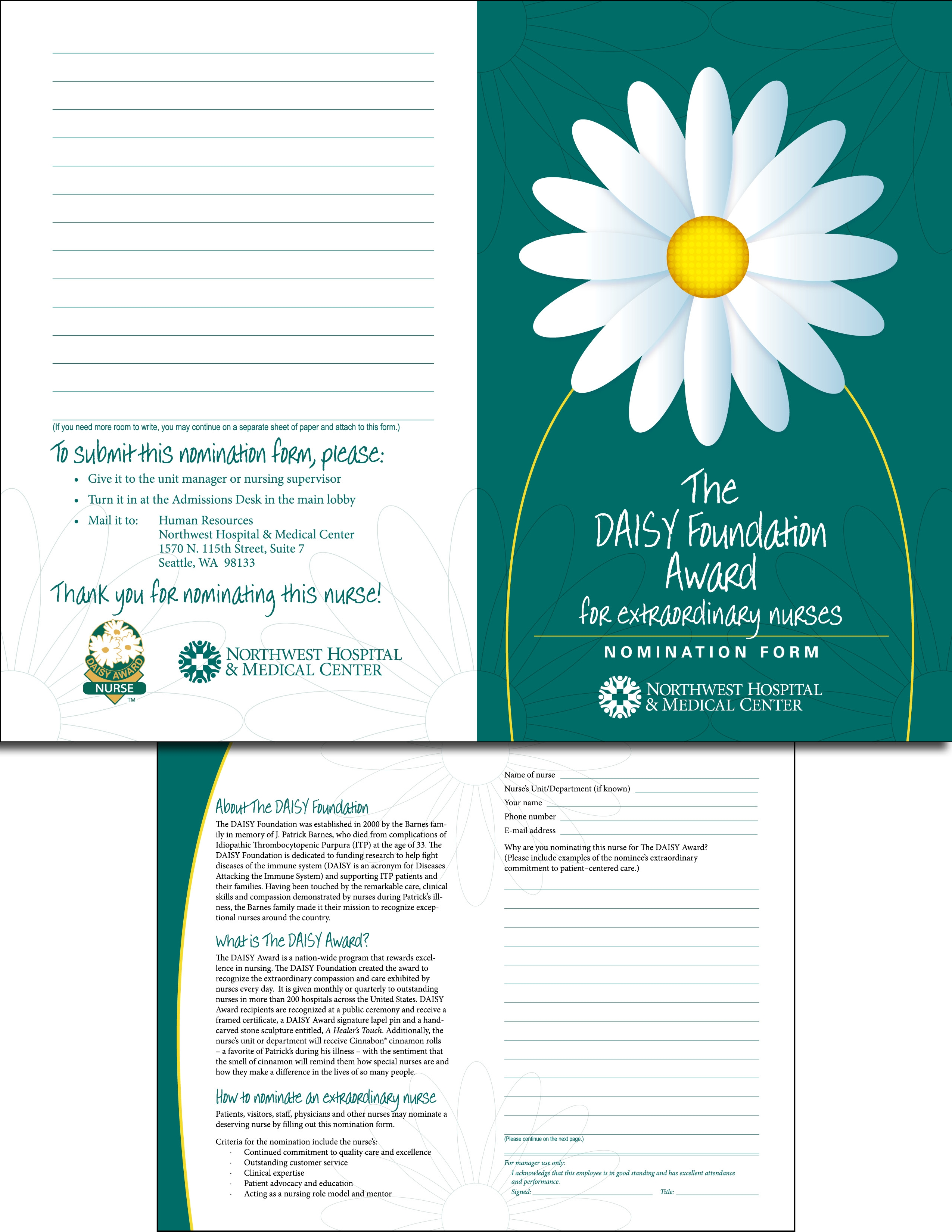 Daisy Award Nomination Brochure