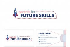 Parents for Future Skills logo & business card